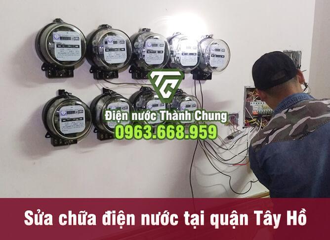 Sửa chữa, lắp đặt hệ thông điện, xử lý hệ thống điện quận Tây Hồ